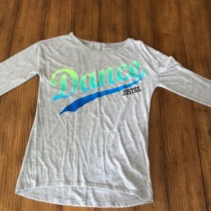 "Justice ""DANCE"" long sleeve T-shirt"